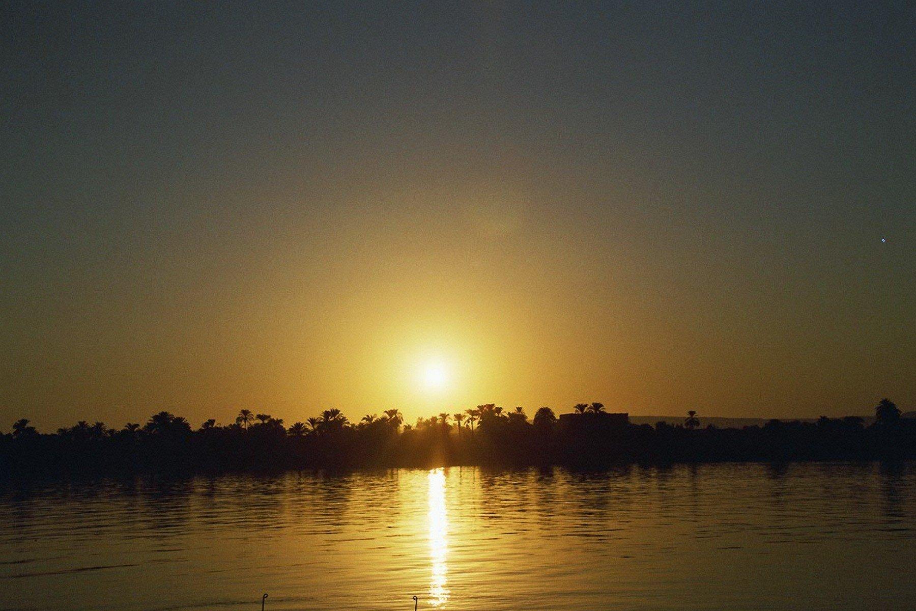 couché de soleil sur le Nil